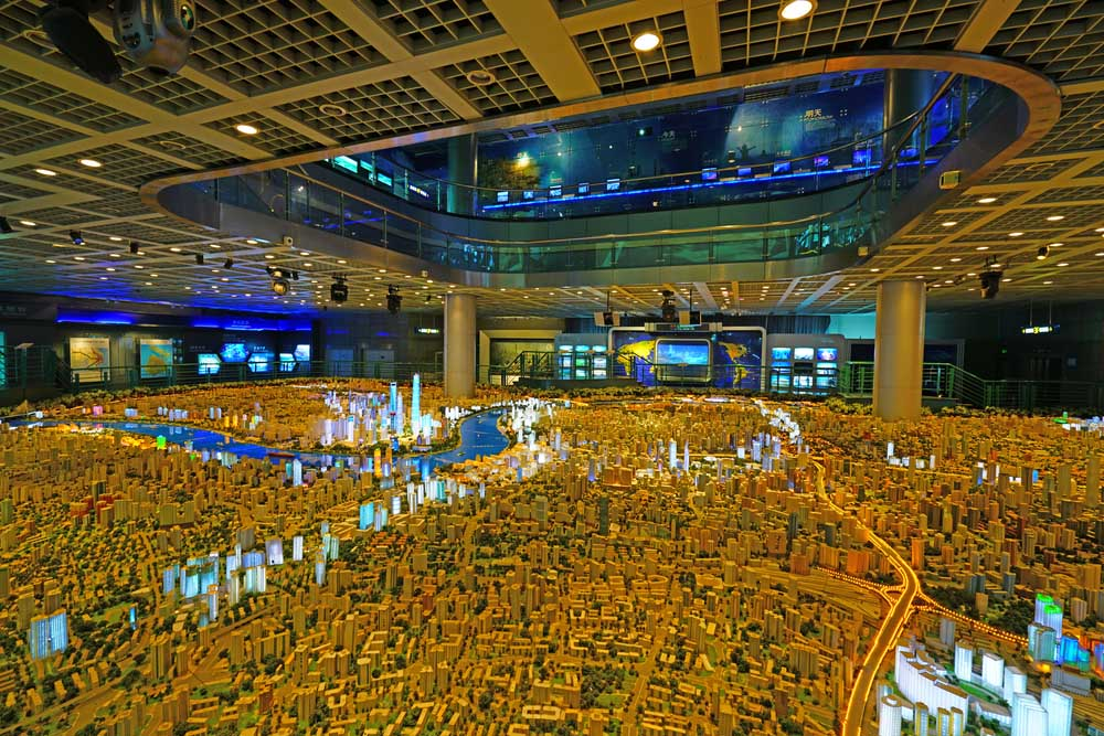Model of the city of Shanghai at the Urban Planning Exhibition Centre.