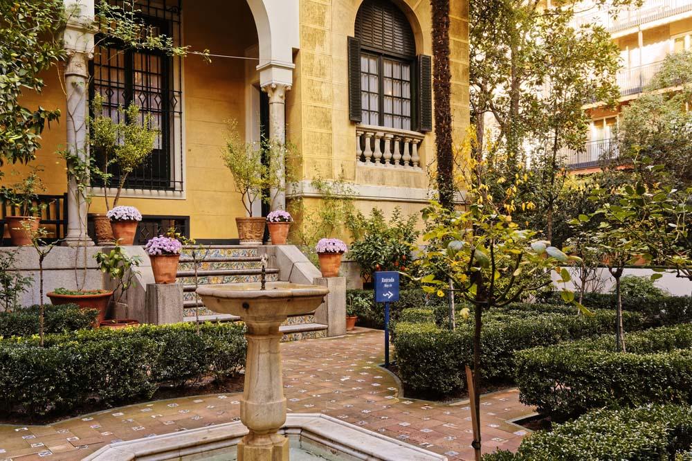 Sorolla Museum's gardens in Madrid, Spain.