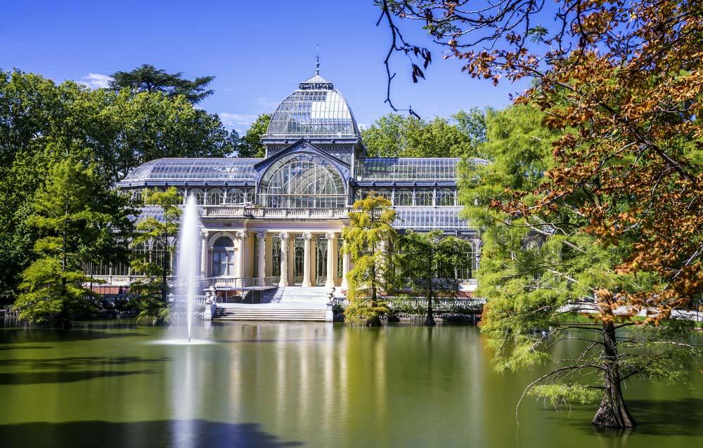 Palacio de Cristal in Retiro Park, Madrid