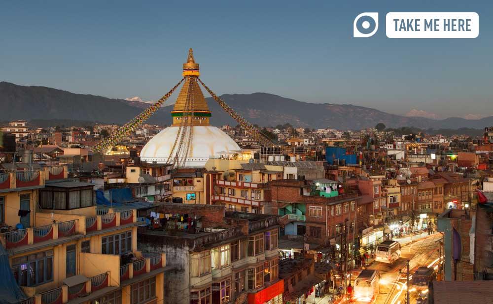 Streetlife near the Boudhanath temple, Kathmandu, Nepal.