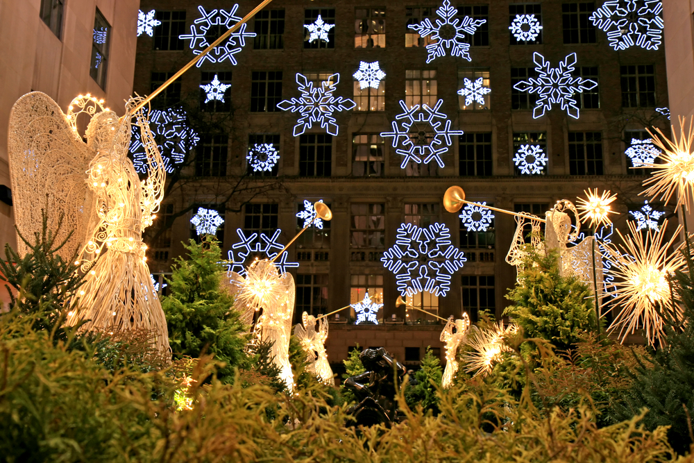 The Christmas decorations in The Rockefeller Center NYC. Photo: gary718/Shutterstock