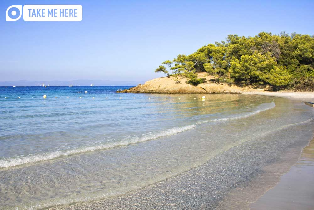 Notre Dame Beach, on the island of Porquerolles, France.