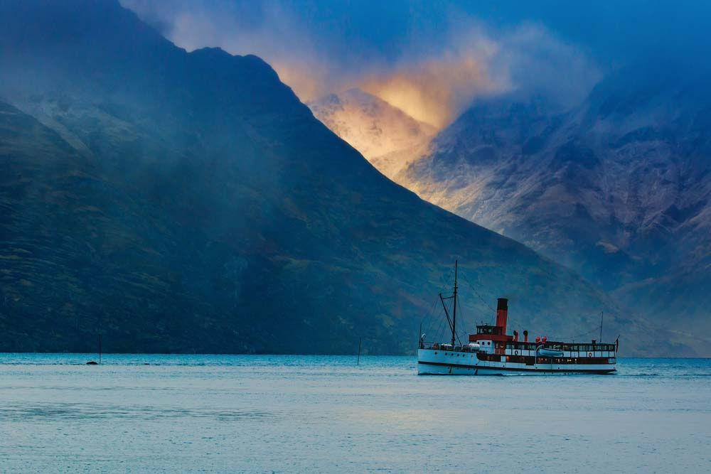 TSS Earnslaw on Lake Wakatipu.