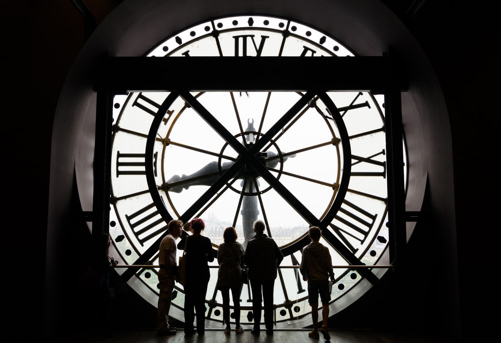 The view from behind the clock at Musée d'Orsay. Photo: Shutterstock