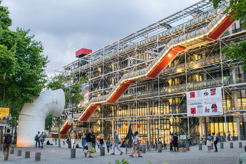 The Centre Pompidou is known for being 'inside-out'. Photo: Shutterstock
