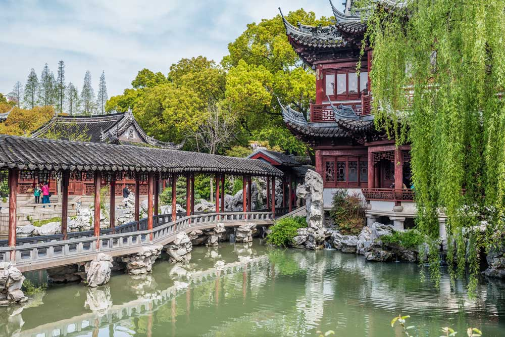 Detail of the historic Shanghai's Yuyuan Garden created in the year 1559 by Pan Yunduan. Photo: Shutterstock