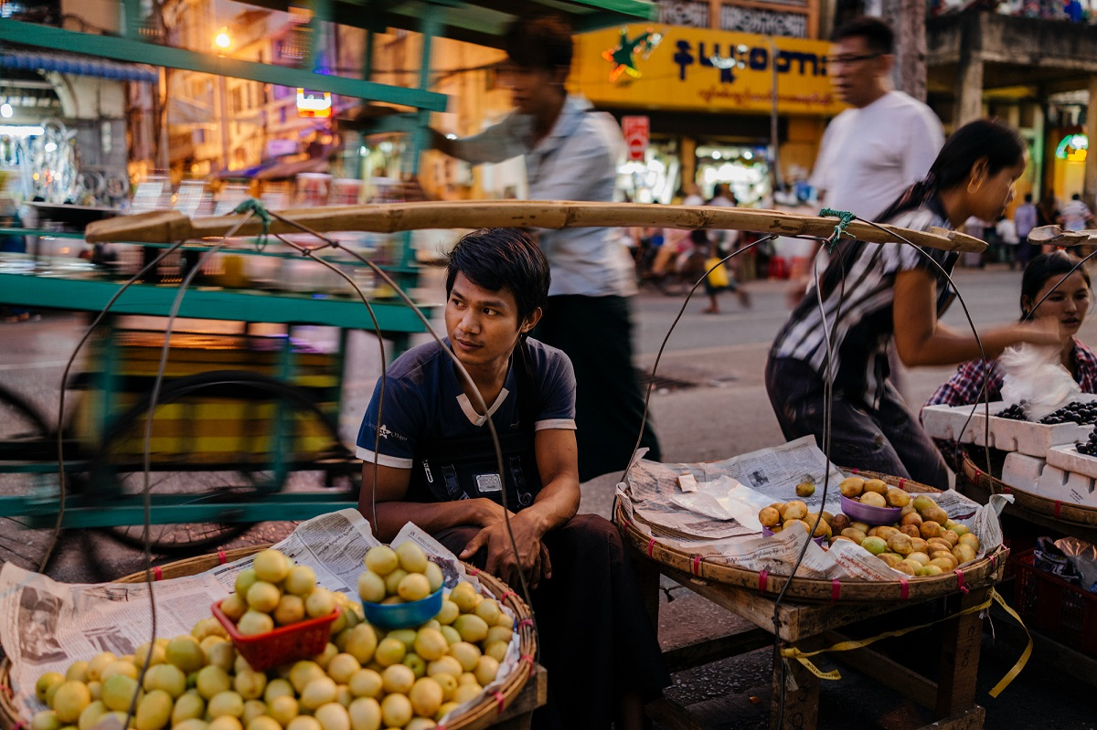 Yangon street. Photo: costas anton dumitrescu/Shutterstock