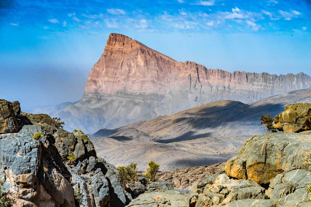 Mountain landscape near Jebel Shams, Sultanate of Oman. Photo: Shutterstock