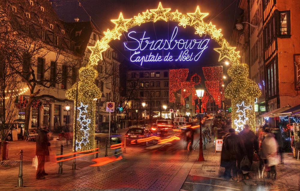 Christmas lights in Strasbourg. Photo: Shutterstock