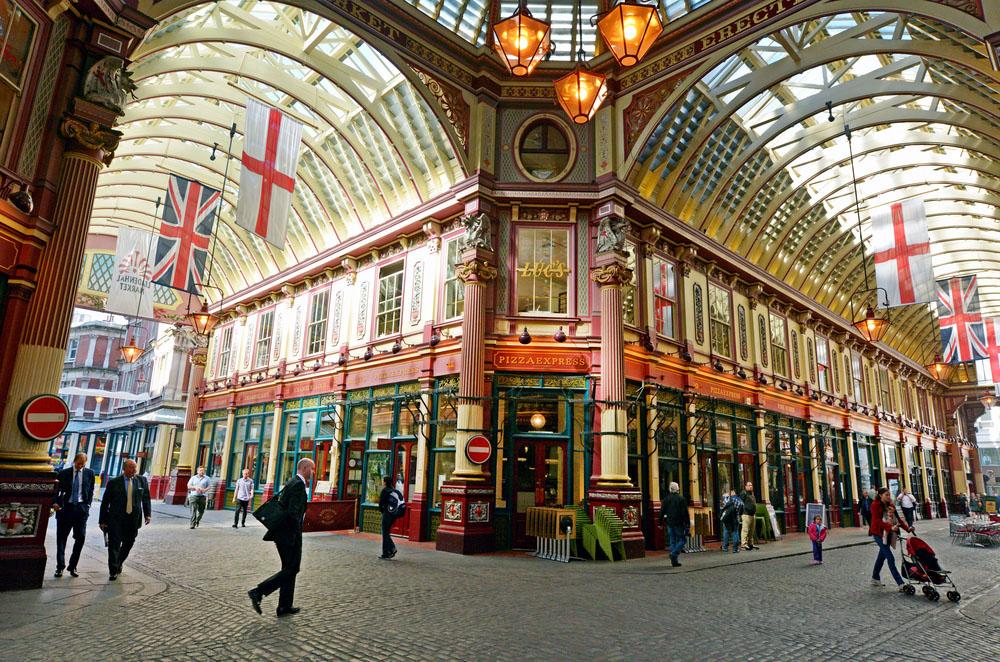 Pedestrians in Leadenhall Market in London. Photo: Shutterstock
