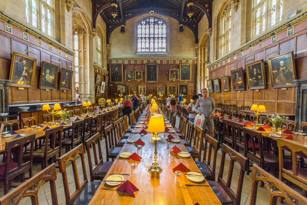 The Great Hall of Christ Church, University of Oxford. Photo: Shutterstock