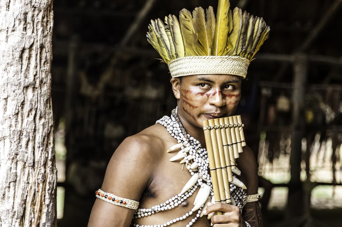 Indian tribe ritual in Amazon, Brazil. Photo: Frazao Production / Shutterstock
