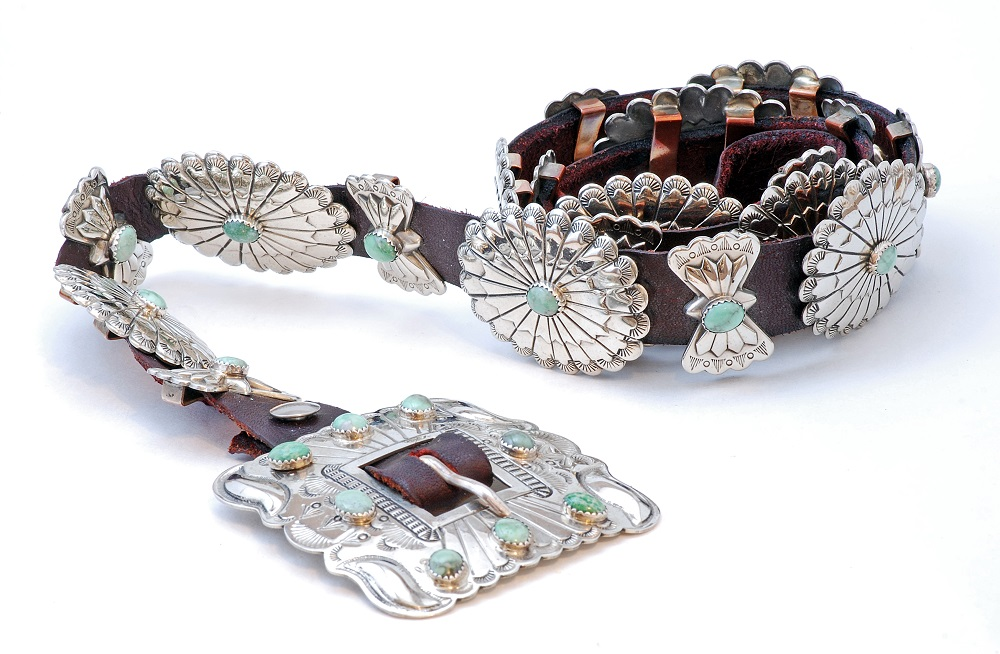 Silver and turquoise concho belt. Photo: Warren Price Photography/Shutterstock