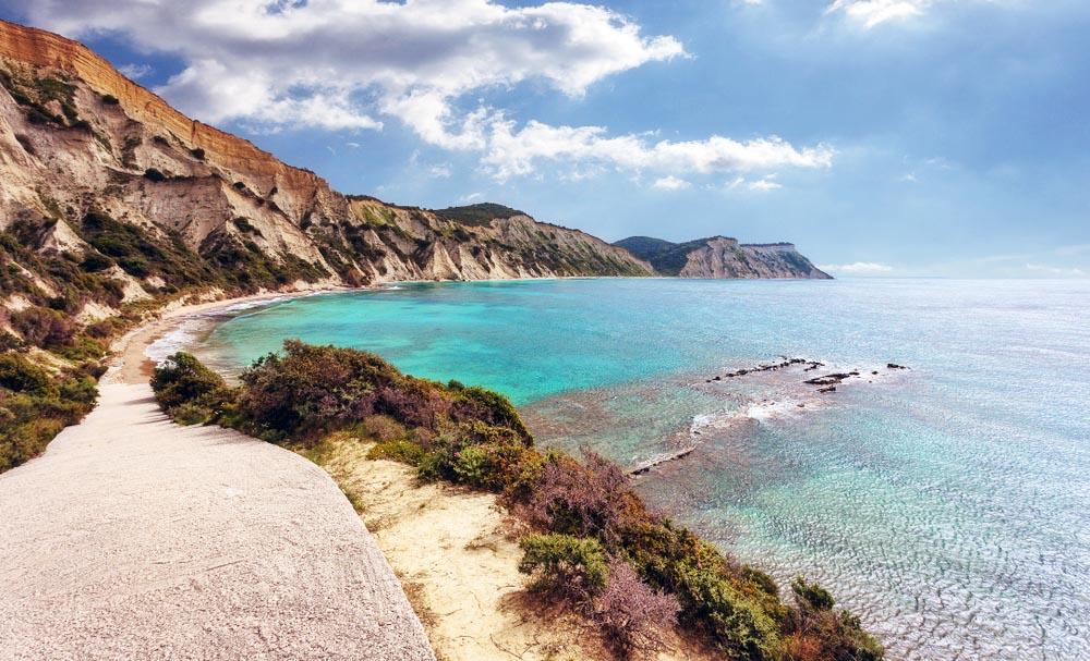 Kánoula Beach, Corfu, Greece.