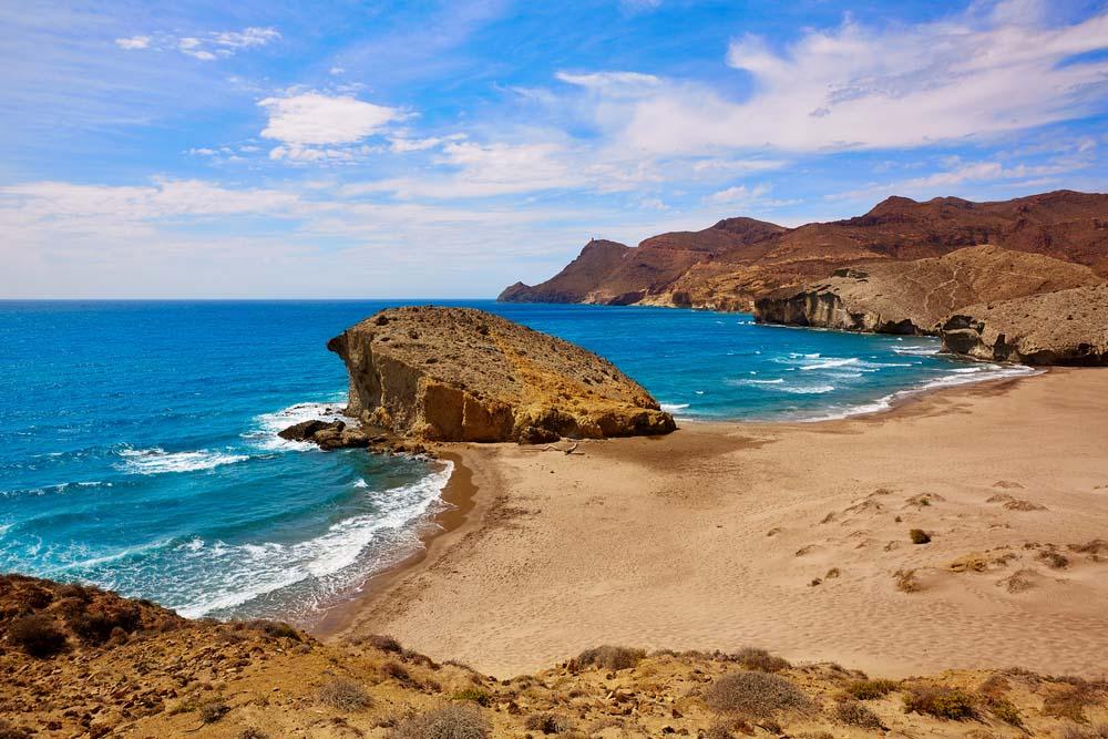 Almeria Playa del Monsul beach at Cabo de Gata in Spain. Photo: Shutterstock