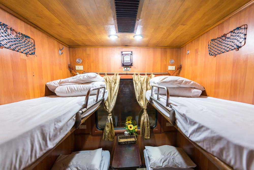 Room on a sleeper train to Hanoi, Vietnam.