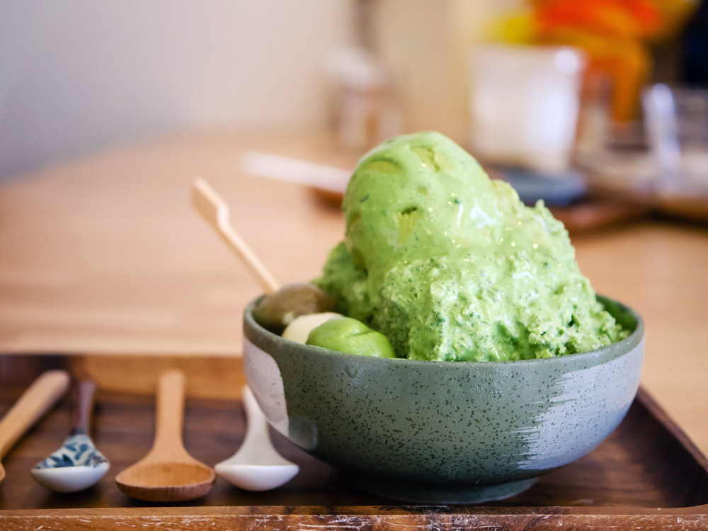 Shaved ice with matcha and green tea ice cream. Photo: Shutterstock