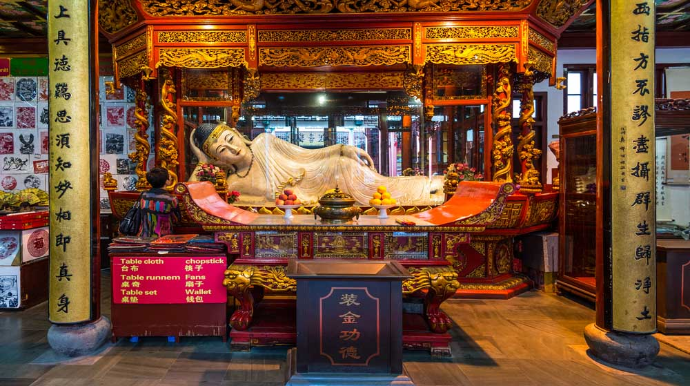 Buddha statue in the Jade Buddha Temple in Shanghai