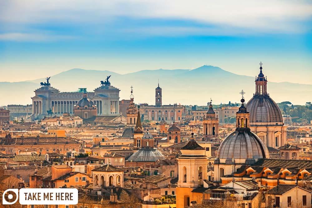 Rome's impressive city skyline