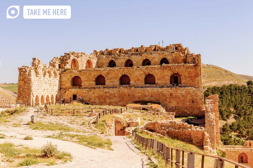 Al-karak Castle, Jordan. As impressive for its vast walls and sturdy defences as its colourful and bloody history, Al-karak is one of the most fascinating crusader castles along the King's Highway.