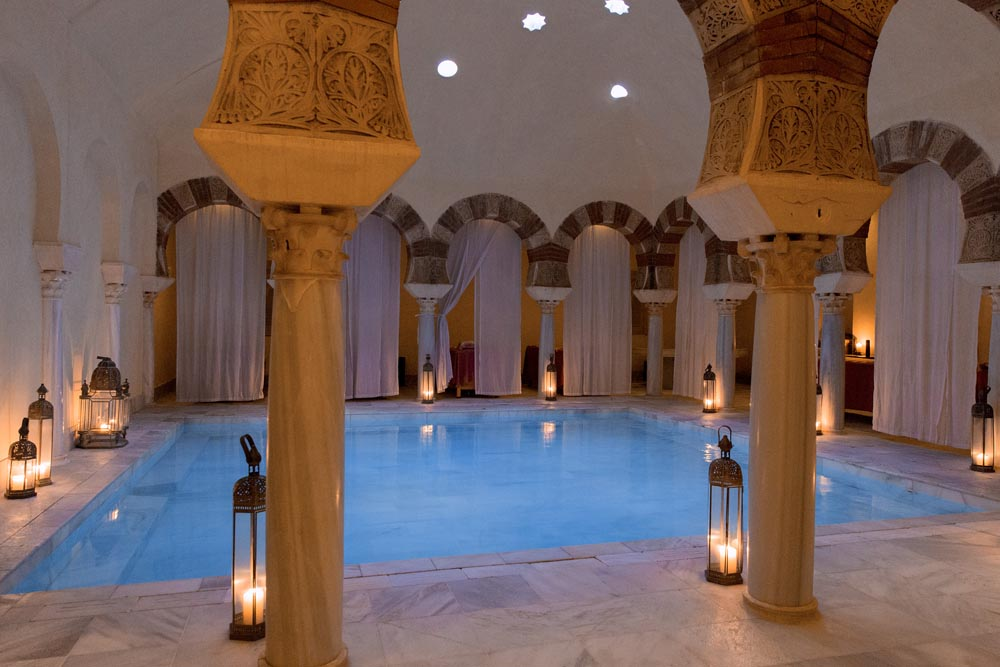 Traditional spa at Hammam Al Andalus, Córdoba.
