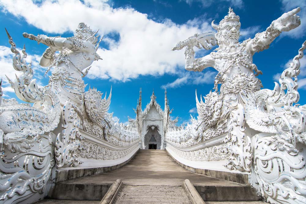 Wat Rong Khun contemporary Buddhist temple, Thailand.