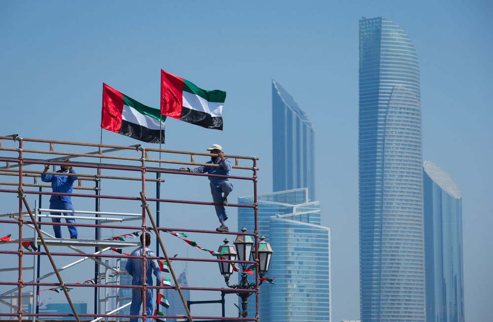 Expat construction workers in Abu Dhabi. Photo: Shutterstock