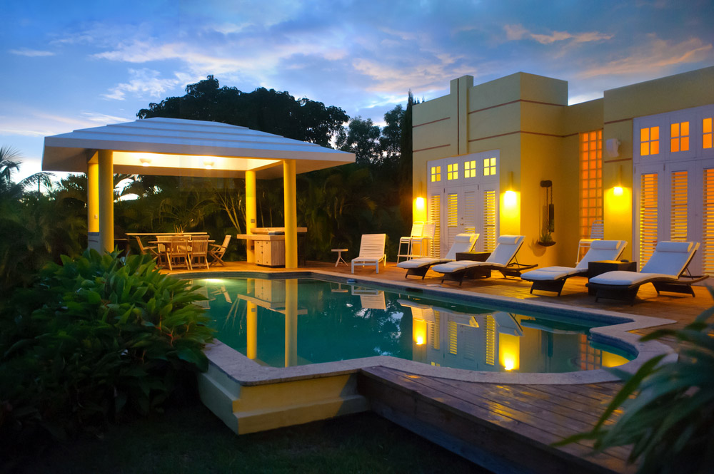 Caribbean Villa at Night - Vieques, Puerto Rico. Photo: Shutterstock