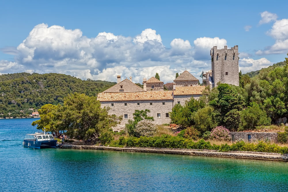 Saint Mary monastery on litle island in national park Mljet, Croatia. Photo: Shutterstock