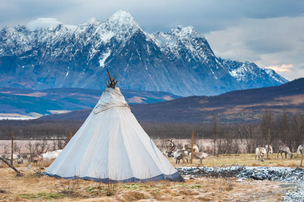 Traditional Sami yurt.
