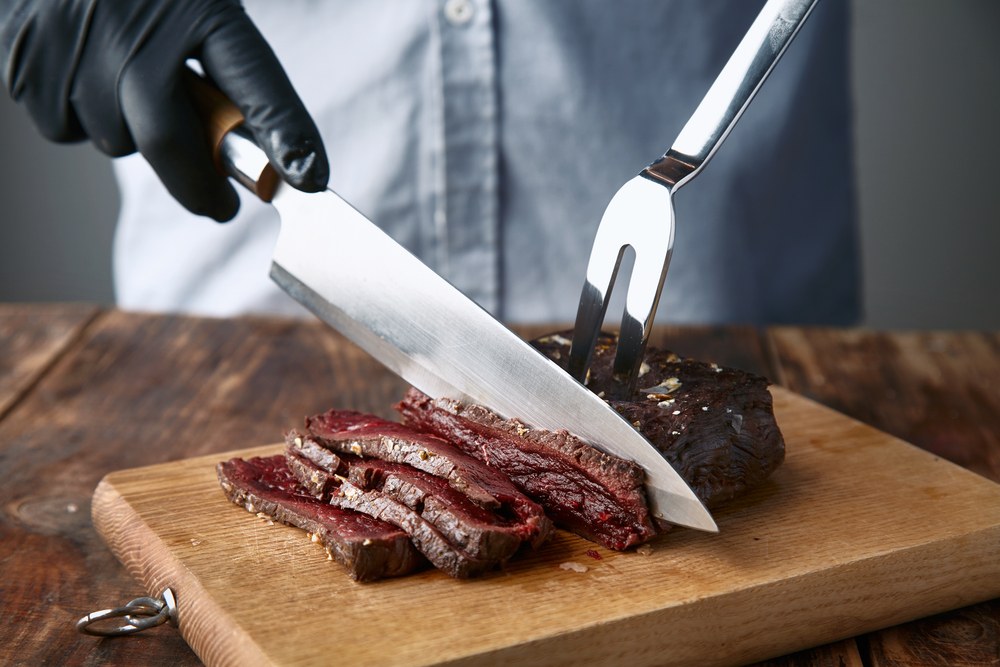 Medium rare cooked whale meat steak. Photo: De Repente/Shutterstock