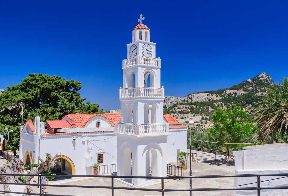 Panagía Tsambíka Monastery, Rhodes Island.