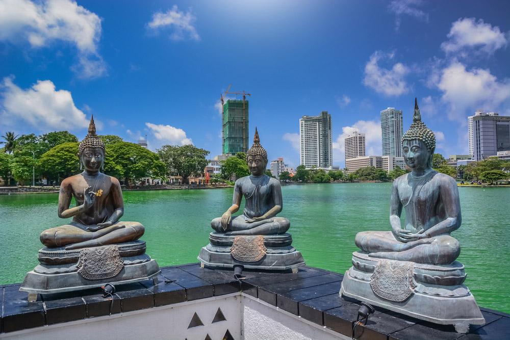 Buddhas in Colombo. Photo: Shutterstock