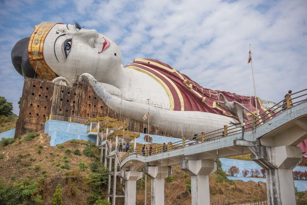 The largest reclining Buddha image, Win Sein Taw Ya.