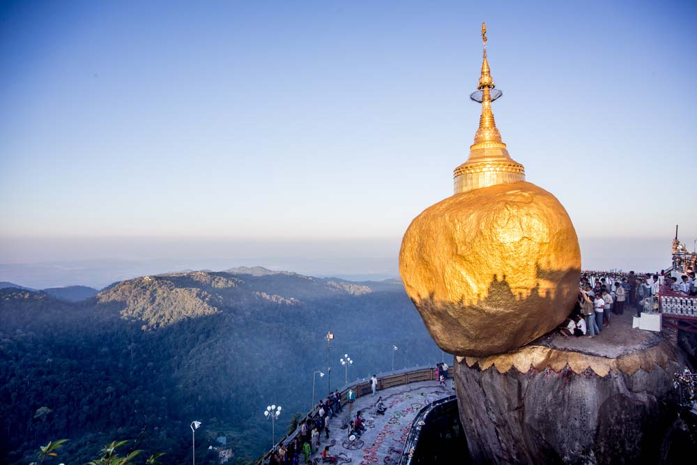 Golden Rock Pagoda.