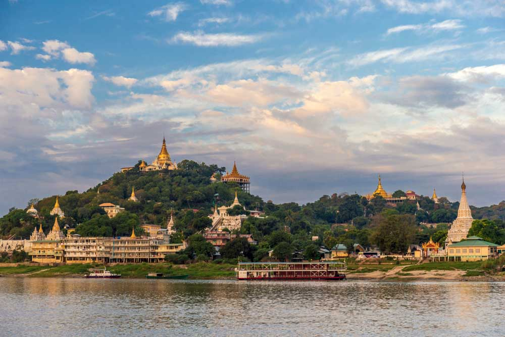Ship on the river Irrawaddy, Myanmar.