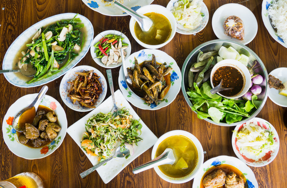 A mouth-watering spread of Burmese food