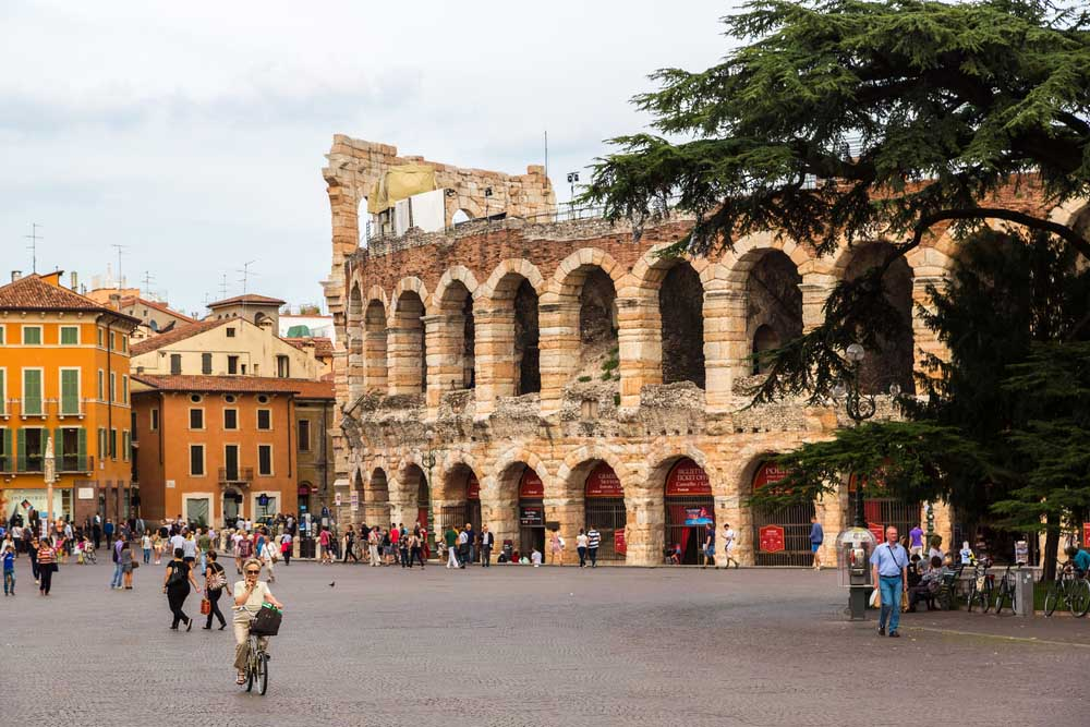 Verona Arena in a beautiful summer day. Photo: Shutterstock