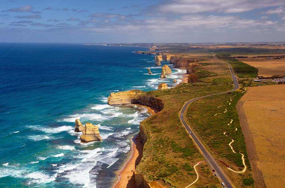 Great Ocean Road and 12 Apostles, Australia.
