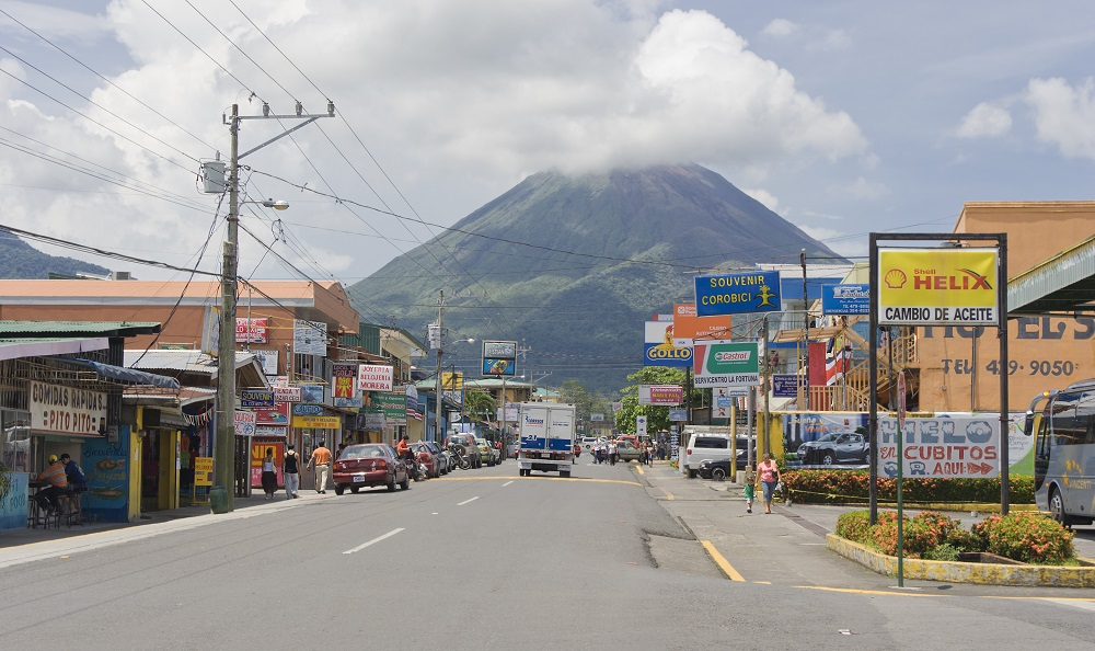 La Fortuna, Costa Rica. In the background the active Volcano Arenal. Photo: riekephotos/Shutterstock