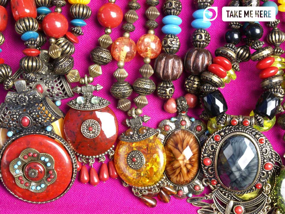 Handmade jewellery is a must-buy when shopping in Bangkok.