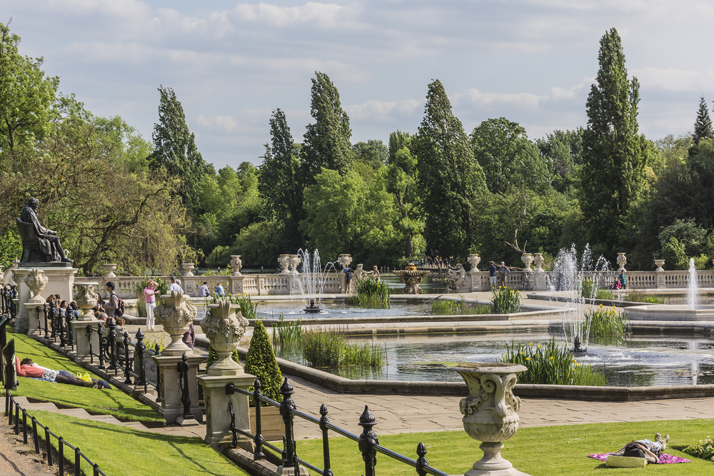 Italian Gardens in Kensington Gardens. Photo: Shutterstock