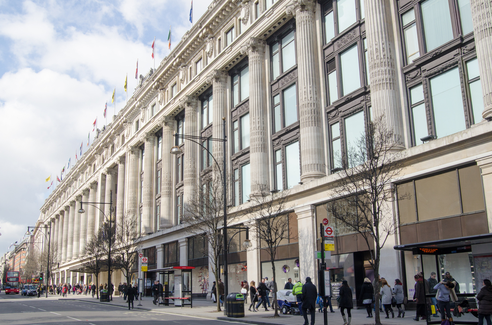 Selfridges Department Store on Oxford Street. Photo: Shutterstock