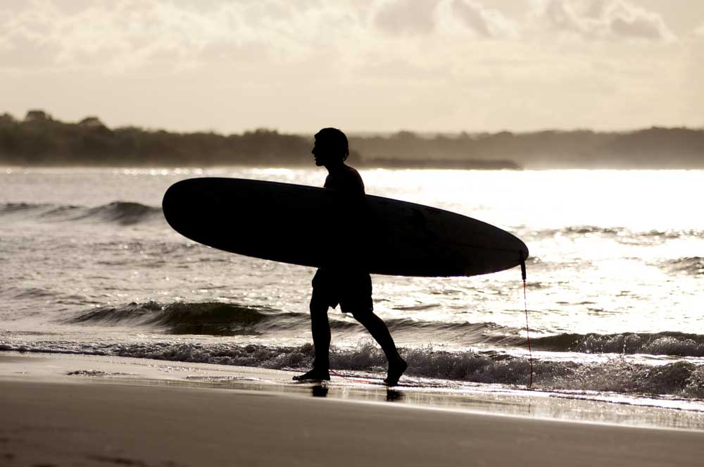 Surfing is a must while you're travelling along the Sunshine Coast.