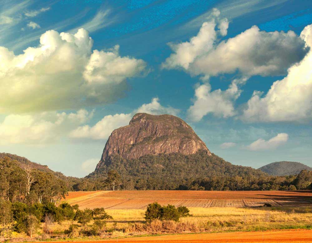 Glass House Mountains.