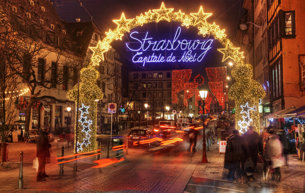 Christmas lights in Strasbourg