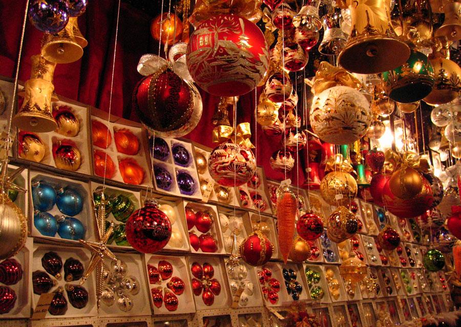 Baubles on sale at Nuremberg's Christmas market