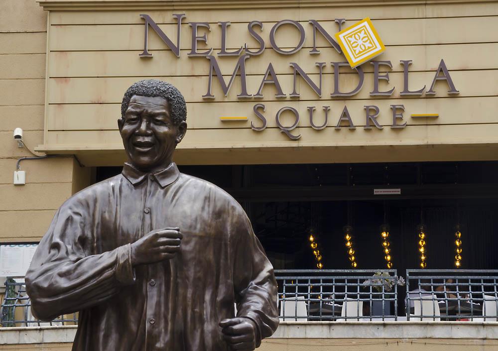Bronze statue of Nelson Mandela in Johannesburg. Photo: Shutterstock