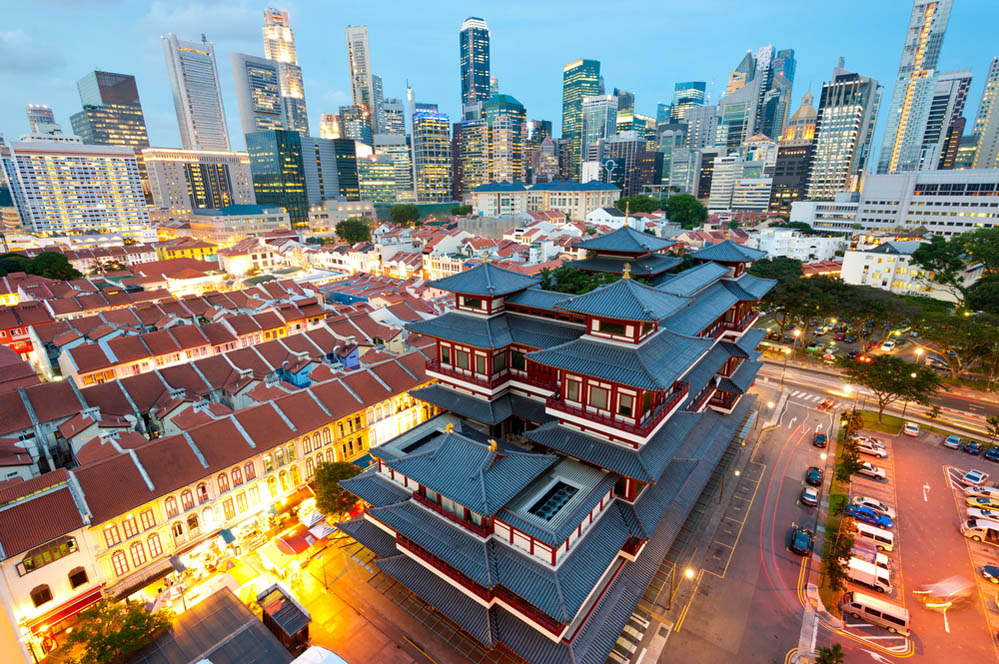 The Buddha Tooth Relic Temple in Singapore's Chinatown. Photo: Shutterstock