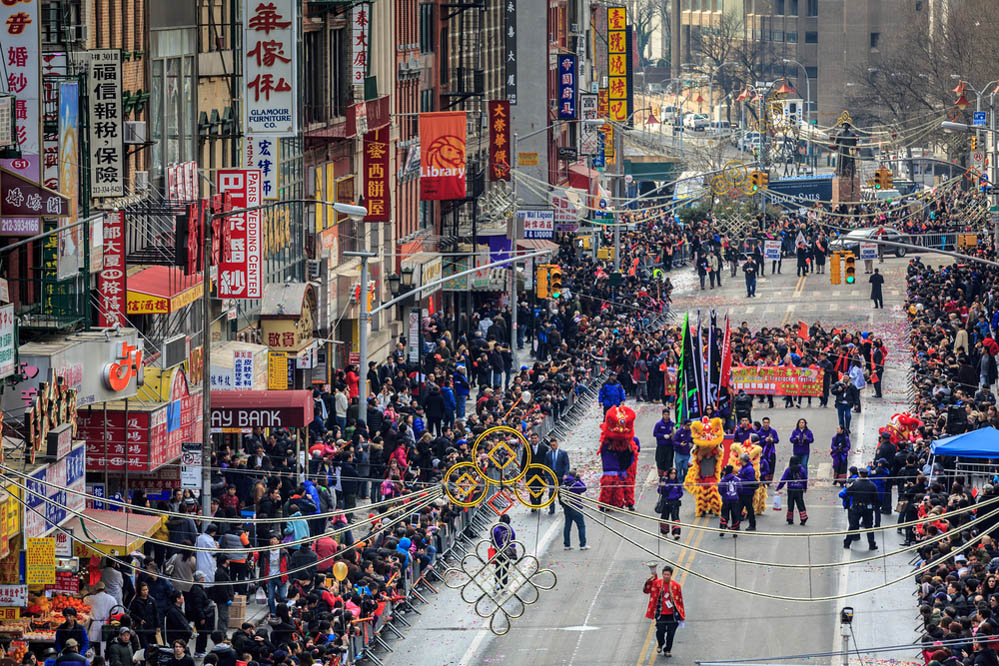 Lunar New Year Festival celebrated in Manhattan's Chinatown. Photo: Shutterstock